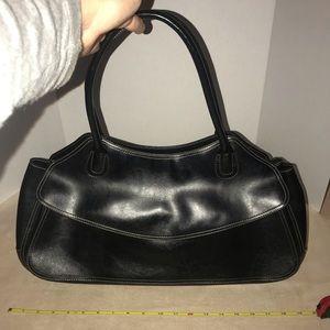 Large Tote Purse Hand Bag Pocketbook Black Satchel